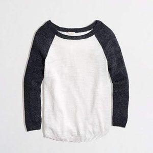 J. Crew Factory Airspun Baseball Sweater #09481